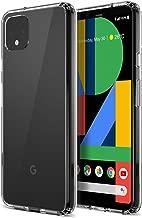 Trianium Clarium Case Designed for Google Pixel 4 XL Case (2019) Rigid Hybrid Clear Backing/TPU Bumper - Clear
