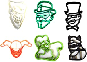 DC VILLAINS COMICS MOVIE CHARACTERS JOKER RIDDLER PENGUIN HARLEY QUINN POISON IVY CATWOMAN BATMAN RIVALS SET OF 6 SPECIAL OCCASION COOKIE CUTTERS BAKING TOOL 3D PRINTED MADE IN USA PR1187