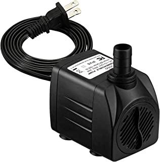 Homasy Upgraded 400GPH Submersible Water Pump with 48 Hours Dry Burning, 25W Fountain Water Pump with 5.6ft Power Cord for Aquarium, Pond, Fish Tank, Water Pump Hydroponics