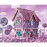 Yiyai 5D DIY bordado diamante imagen abstracta decoración del hogar pintura Candy Castle completo redondo taladro punto de cruz arte hecho a mano regalo redondo 30 x 40 cm