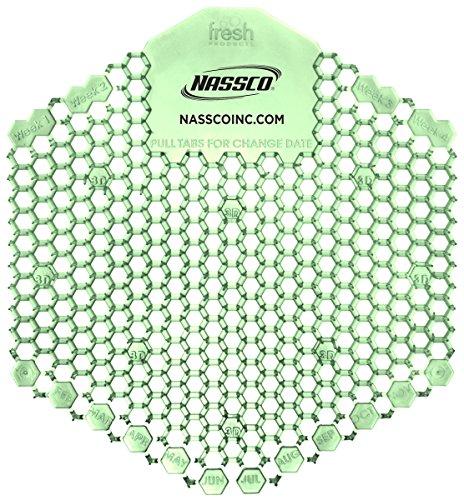 NASSCO Wave 3D Enzymatic Urinal Screen, Cucumber Melon, 10 per Box