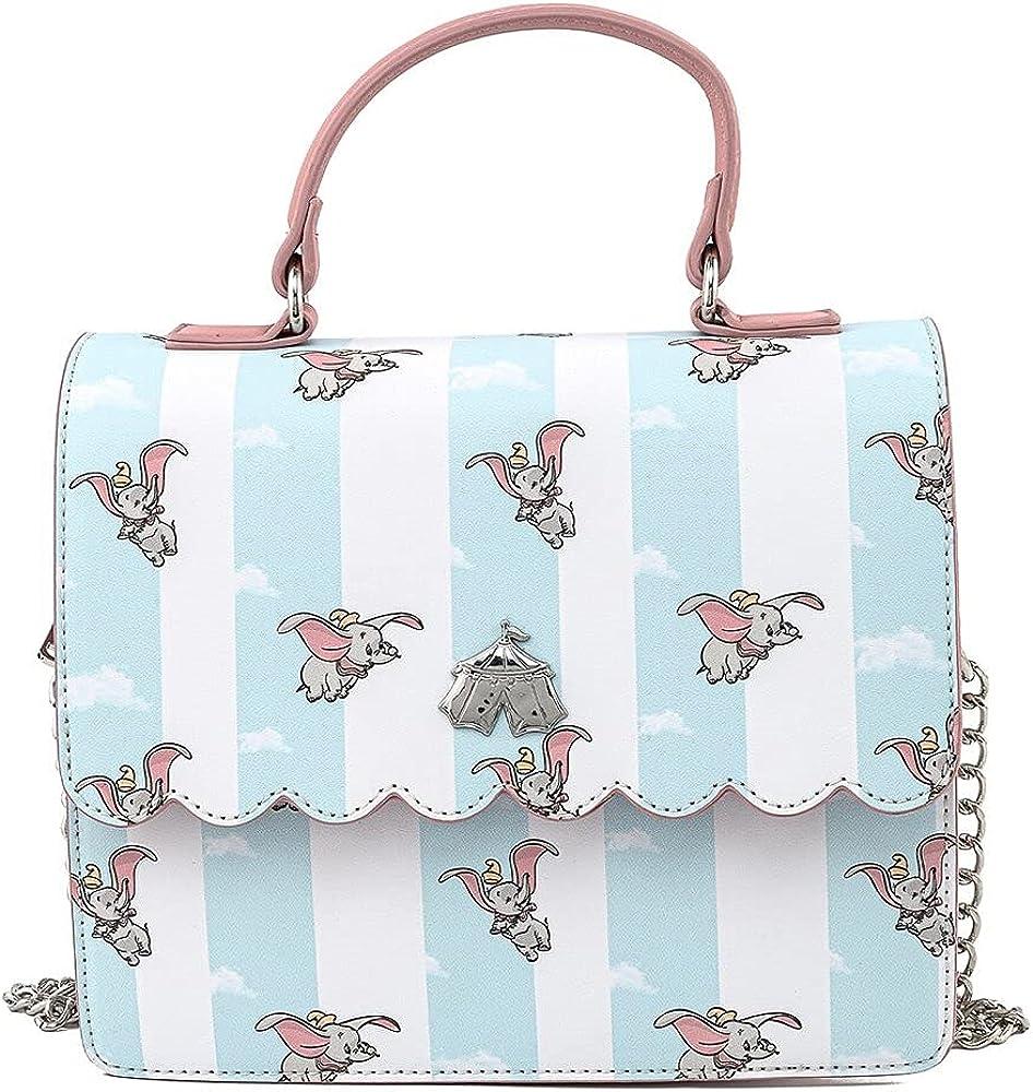 Loungefly Disney Dumbo Flying All Over Print Crossbody Purse Handbag