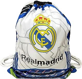 Real Madrid Gym Bag Drawstring Backpack Shoe Bag Ball Bag for Soccer Fans