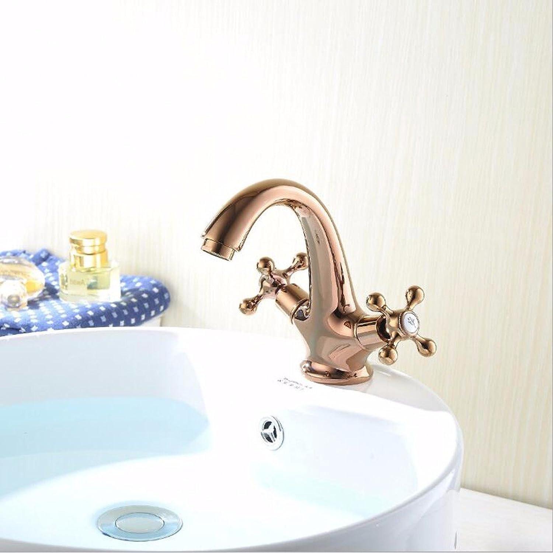 Lvsede Bad Wasserhahn Design Küchenarmatur Niederdruck Kupfer Chrom RoséGold Wasserhahn Doppelspüle L4665