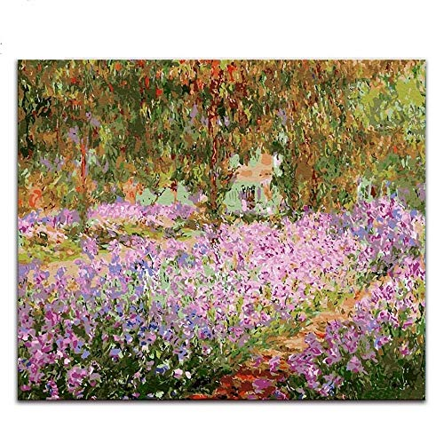 LAMAMAG Malen nach Zahlen Zusammenfassung Malen Nach Zahlen Claude Monets Gemälde Arten Von Seerosen Impressionenlotus-Bilder Malen Nach Zahlen Mit Farben DIY
