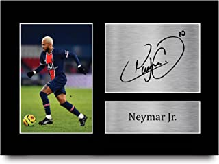 HWC Trading Neymar Jr prezent podpisany A4 drukowany autograf PSG prezenty nadruk zdjęcie zdjęcie zdjęcie zdjęcie zdjęcie ...