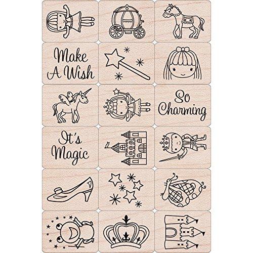Hero Arts LP199 Ink 'n' Stamp Woodblock Stamps, Fairy Princess
