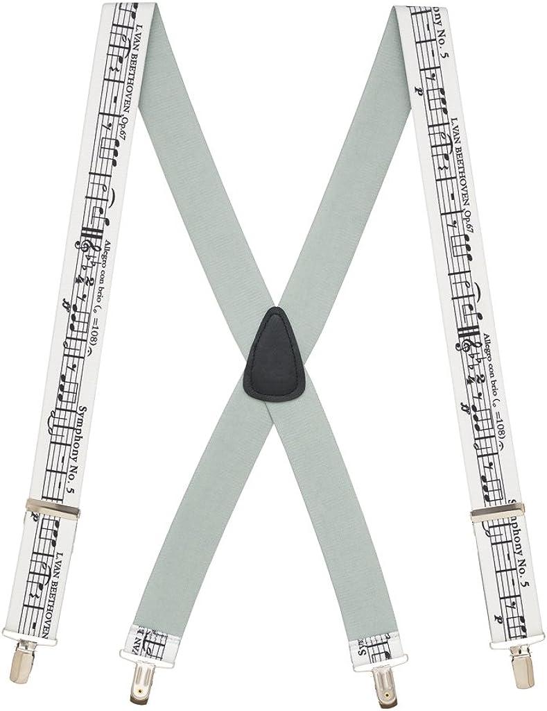 SuspenderStore Men's Beethoven's 5th Suspenders - CLIP