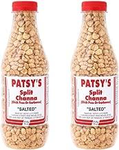Patsy's Split Channa (Chick Peas or Garbanzo) Salted - 16oz (Pack of 2) - Trinidad & Tobago Snacks