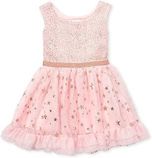 Baby Girls Sleeveless Foil Print Jacquard Dress