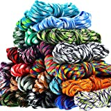 28 Colors 10 Feet Paracord Cord 550 Multifunction Paracord Ropes Paracord Bracelet Rope Crafting Making Rope Kit for Lanyards Keychain Dog Collar DIY Manual Braiding Supplies