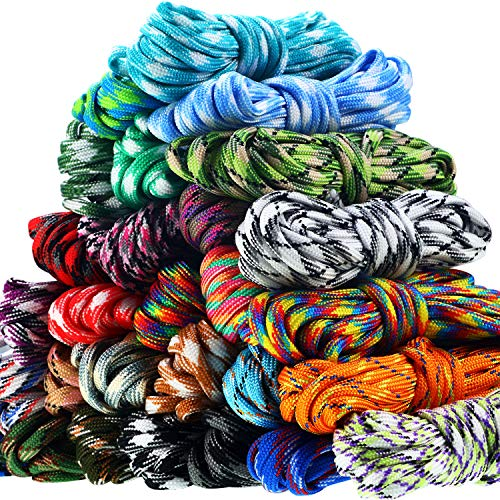 WILLBOND 28 Colors 10 Feet Paracord Cord 550 Multifunction Paracord Ropes Paracord Bracelet Rope Crafting Making Rope Kit for Lanyards Keychain Dog Collar DIY Manual Braiding Supplies