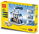 Create Resolve and fix 4-in-1 296pcs Building Blocks Toy Set - Great Educational Science Project Game Watch Your Little Mechanic Build and Assemble Gears and Moving Parts