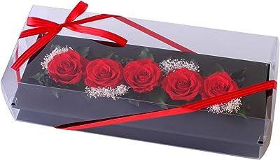 プリザーブドフラワー (フレームワイドM 付き/薔薇フレーム) プレゼント お祝い [ 記念日 誕生日 ] アレンジ リボン付き
