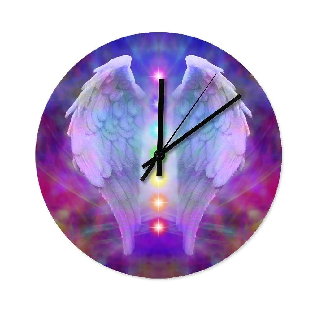 Cr/éez Votre Propre Horloge Multi-Photo Horloge De D/écoration Murale en Bois Massif avec Cadre Photo en Plastique Blue-Yan Cadre Photo Mural Bricolage avec Horloge Murale De 16 Pouces