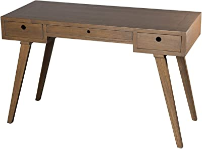 MACABANE Bureau 3 tiroirs, 120 x55,5x28