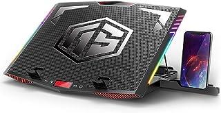 MeFee RGB - Almohadilla de refrigeración para portátil de 15,6-21 Pulgadas para portátil Profesional con 6 Ventiladores si...
