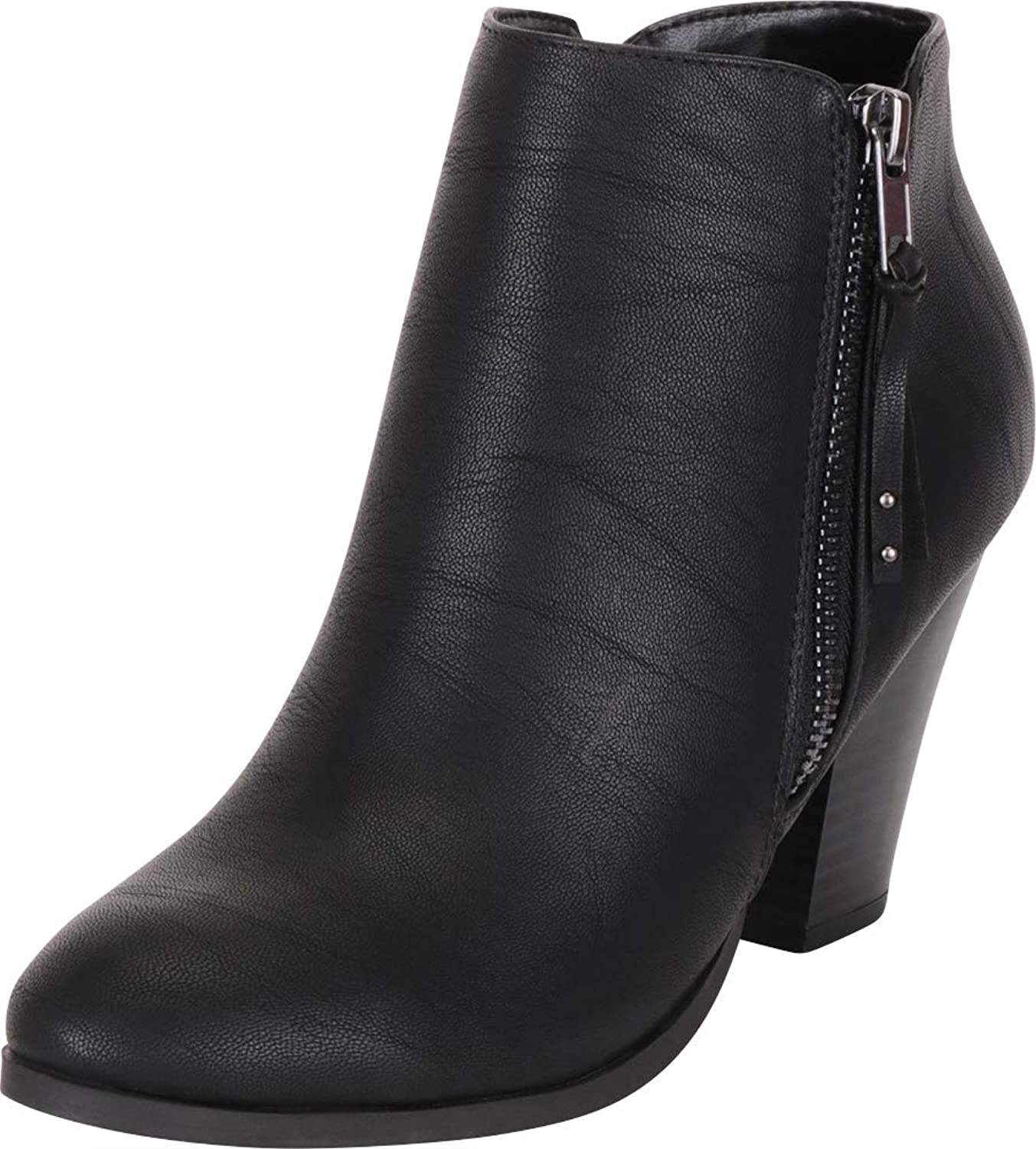 Cambridge Select Women's Western Chunky Stacked High Heel Ankle Bootie