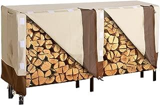 SONGMICS Heavy Duty Log Rack Cover Waterproof Firewood Cover 8ft UGLC96M