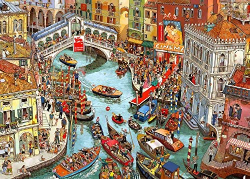 1000 pieces Jigsaw Puzzles for Adults Puzzle Sets for Family Cardboard Puzzles Brain Challenge Puzzle for Kids Childrens Adults (Venice)