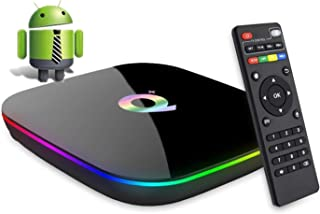 comprar comparacion DeWEISN Android 9.0 TV Box, Q Plus Smart Box 4GB RAM 32GB ROM H6 Quad-Core cortex-A53 Mali T720 GPU Reproductor Multimedia...