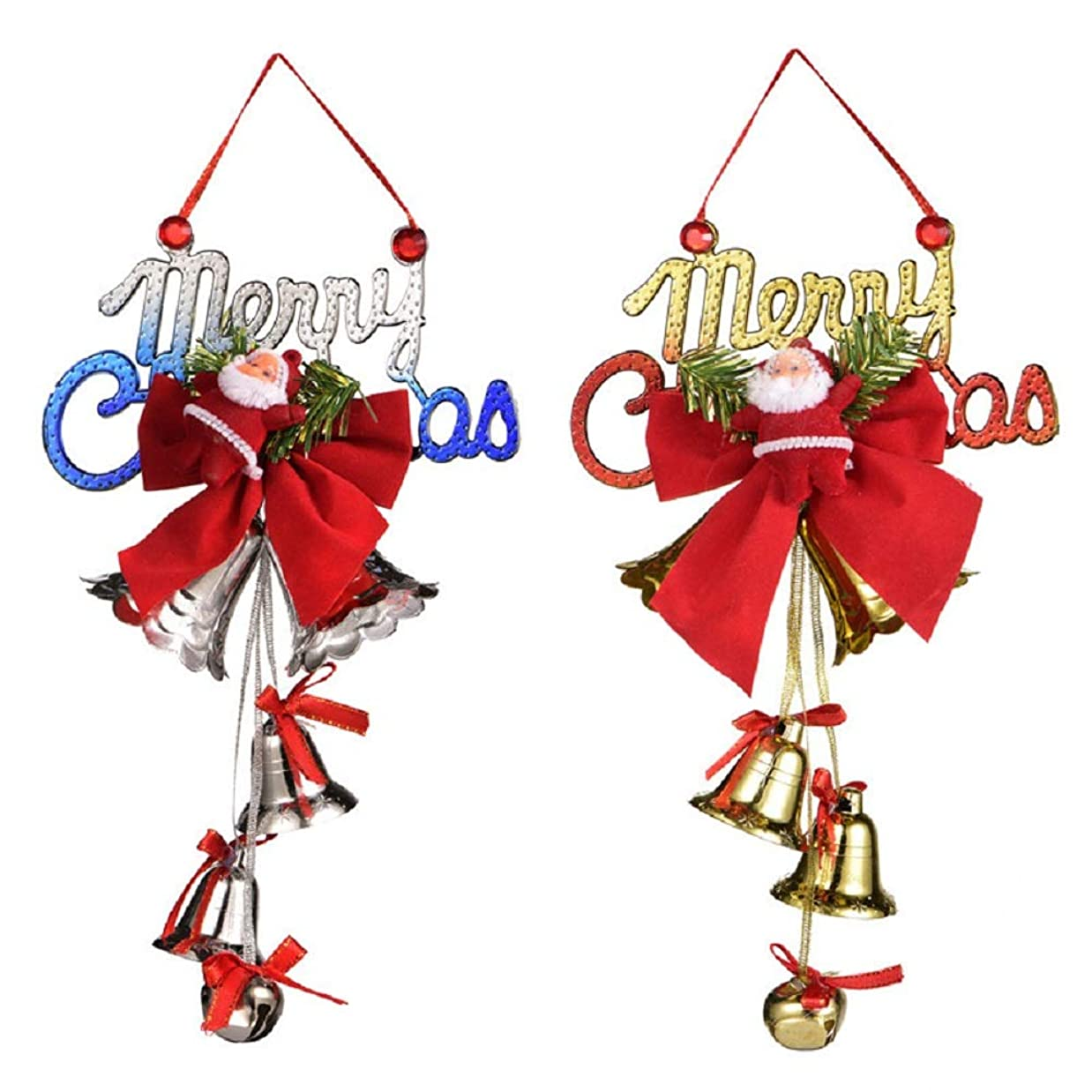 一定インシデントプレーヤークリスマスベル クリスマス鈴 クリスマス飾り付けセット サンタクロース ベル クリスマスオーナメント クリスマスツリー 飾り クリスマス雰囲気満点 可愛い 華やか 雑貨 2個セット