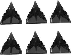 Sedeta 6pcs EVO Style Carbon Fiber Car Roof Eagle Claw Shark Fins Tails Wings Accessories