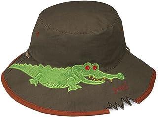 (サングローブ) Sunglobe UVカット 帽子(子供用) - キッズ ハット - ワイド バケット カラー:クロコダイル(ダークカーキ) サイズ:52cm、55cm