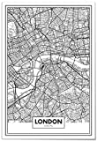 Panorama Póster Mapa de Londres 50x70cm - Impreso en Papel 250gr - Póster Pared - Cuadros Modernos Decoración Salón - Cuadros para Dormitorio - Póster Decorativos