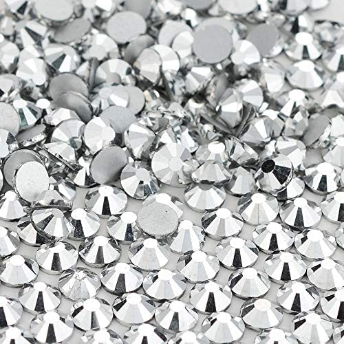 Xuccus Max 68% OFF Silver Crystal Back Flatback New arrival Rhinestones Non Glass