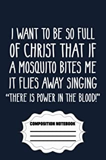 """Christian Mosquito Joke Funny Deluxe UD Notebook: 120 Wide Lined Pages - 6"""" x 9"""" - College Ruled Journal Book, Planner, Di..."""