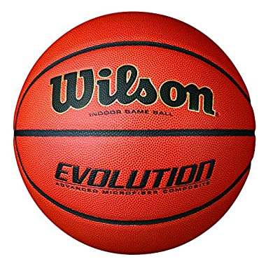 Wilson Evolution Indoor Game Basketball, Official Size (29.5 ), Black