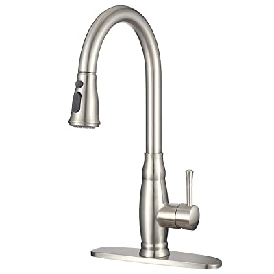 IMLEZON Stainless Steel Kitchen Faucet with Pul...