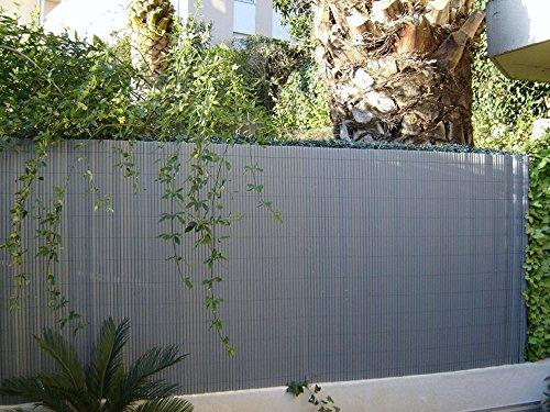 PEGANE Canisse en PVC Double Face en Rouleau Coloris Gris Perle, 1,50m x 3m
