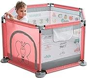Hfyg Playpens Baby Playpen Portable Games Play Barrier Children Indoor Playground for Children pens  Color Pink