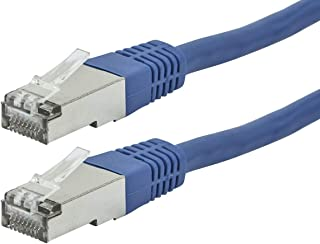 Monoprice 111283 Cat6A Ethernet Patch Cable - 20 feet - Blue | Zeroboot, RJ45, Stranded, 550Mhz, STP, Pure Bare Copper Wir...