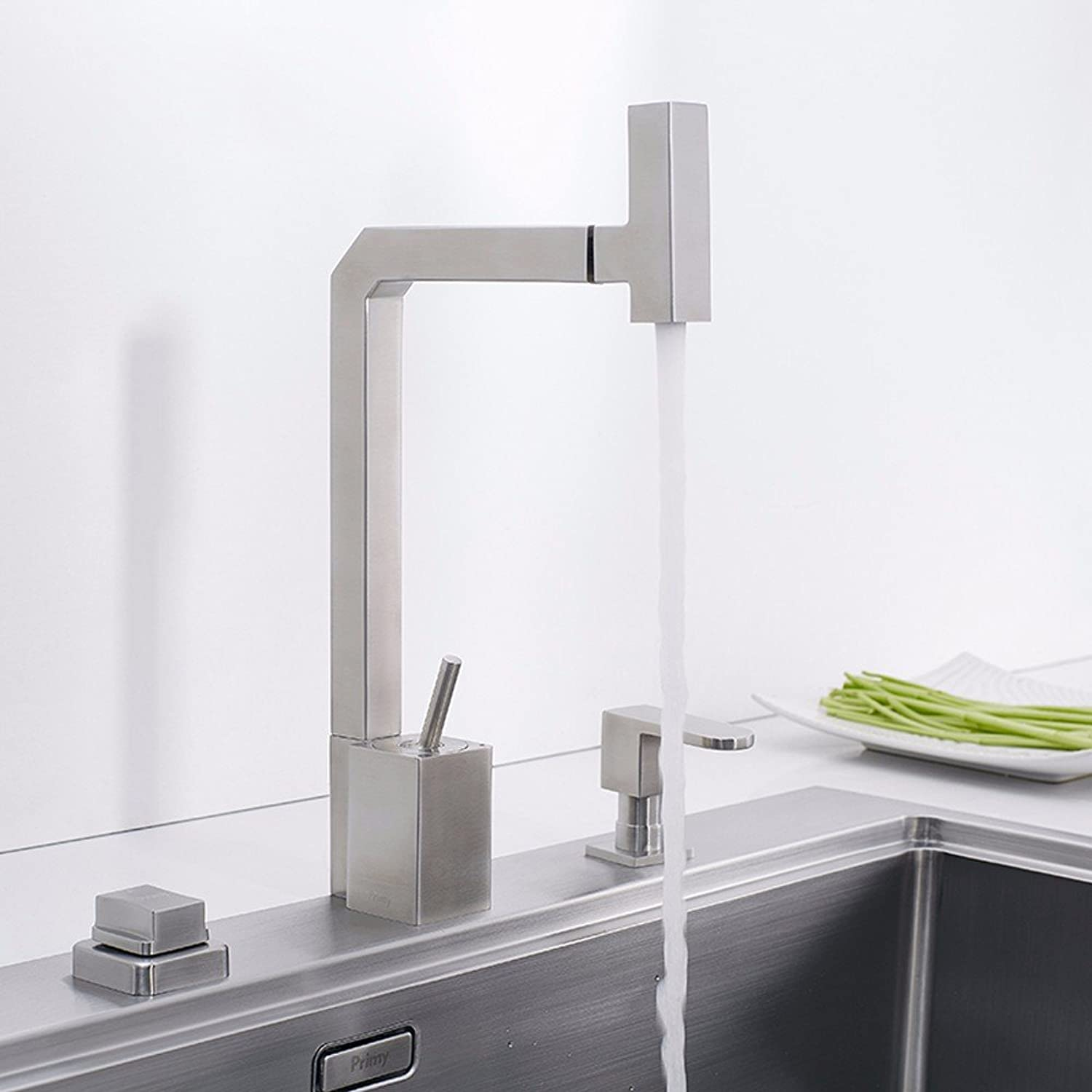 KHSKX-304 Stainless Steel Kitchen Faucet Hot And Cold Dish Sink Faucet Can redate Sink Faucet