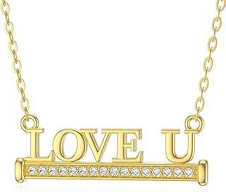 BEBEWO تاج الحب 10K 14K 18K الذهب الحب القلب تاج قلادة قلادة قلادة اللؤلؤ على شكل قلب ، قلادة تاج الملكة ، قلادة الذهب الق...