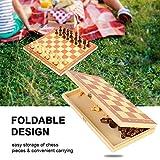 Naroote Juego de ajedrez de Tablero Plegable, Juego de Tablero de ajedrez de Madera Port¢Til Ajedrez de Entretenimiento Internacional para Actividades Familiares de Fiesta