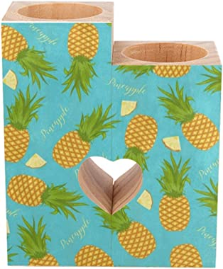 Wooden Candle Tealight Holder Tropical Summer Pineapple on Teal Romantic Candle Holder Decorative Heart-Shaped Craft Wooden C