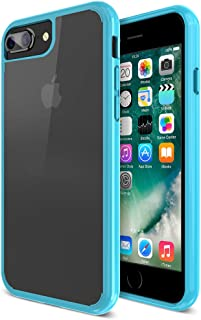 iPhone 7 Plus case, Maxboost Clear Cushion iPhone 7 Plus Cases [Moonstone Blue/Clear] w/[GXD Impact Gel] Extreme Case Prot...