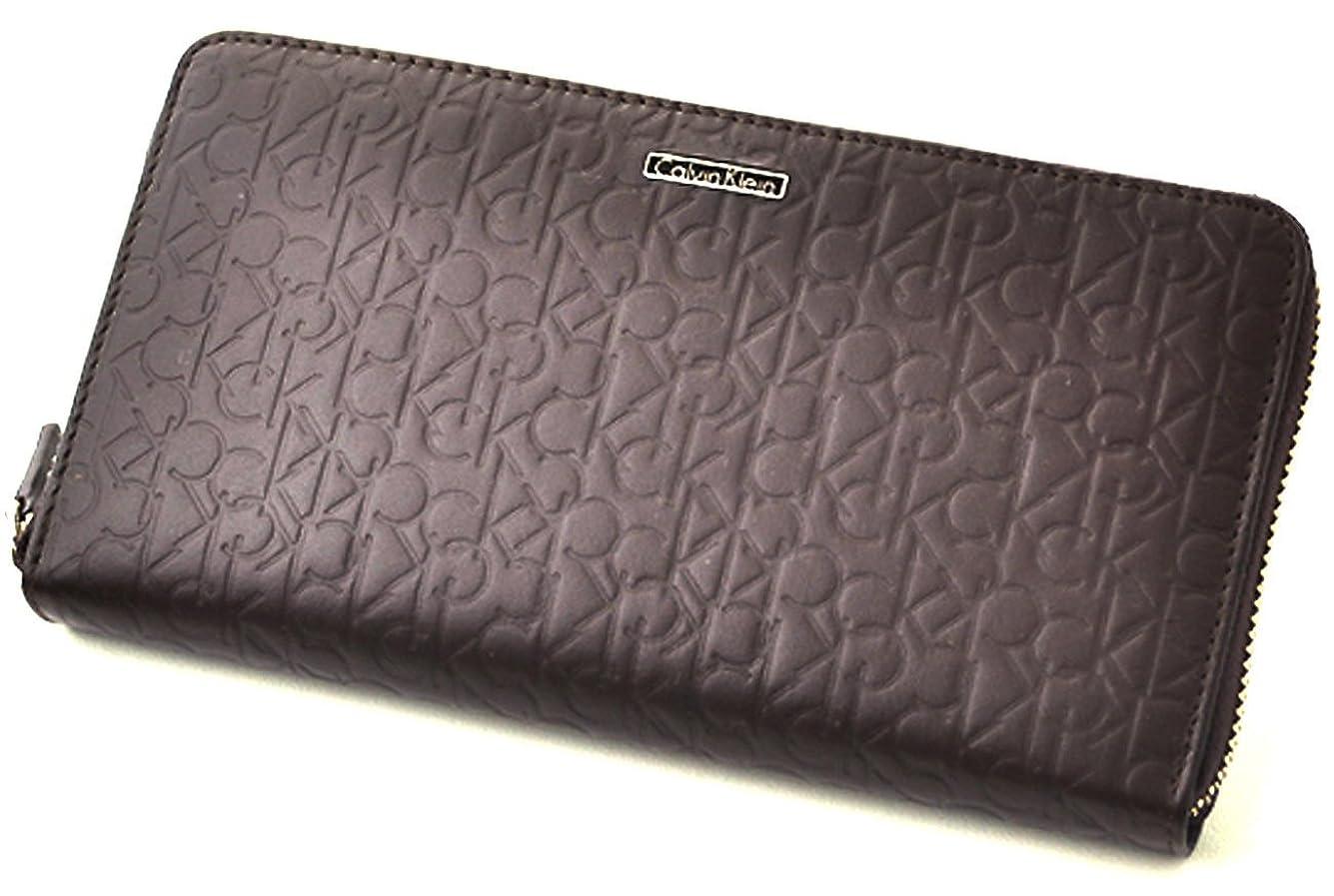 品種関税無限カルバンクライン Calvin Klein 長財布 メンズ ラウンドファスナー レザー ウォレット 小銭入れ付き 小物