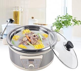 Multicuiseur électrique 5 l - Cuiseur à riz - Fonction minuteur - Chauffe-marmite avec cuiseur vapeur pour soupes, ragoûts