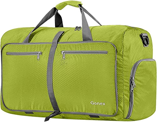 Gonex 60L Packable Travel Duffle Bag Foldable Duffel Bags for Luggage Gym Sports Camping Travelling Cycling Storage S...