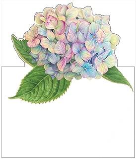 Caspari Hydrangea Garden Die-Cut Place Cards, 24 Included