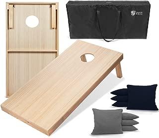 Tailgating Pros 4'x2' Woodgrain Finish Cornhole Boards w/Carrying Case & Set of 8 Cornhole Bags (You Pick Color) 25 Bag Colors!