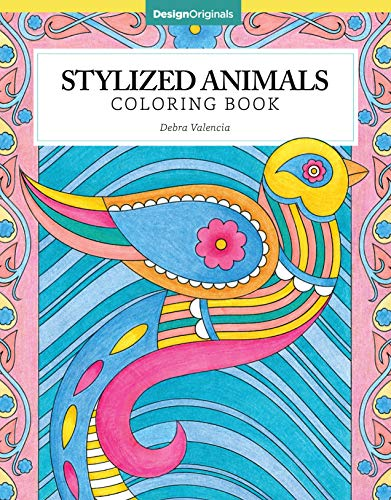 Stylized Animals Coloring Book (Design Originals) 32 Modern and Unique Designs of Cats, Dogs, Turtles, Fish, Monkeys, Birds, Elephants, & More, with Over 60 Gorgeous Finished Examples for Inspiration