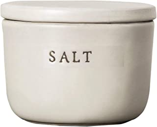 Hearth and Hand Salt Cellar - Stoneware - Cream - By Chip and Joanna Gaines - Magnolia Marker