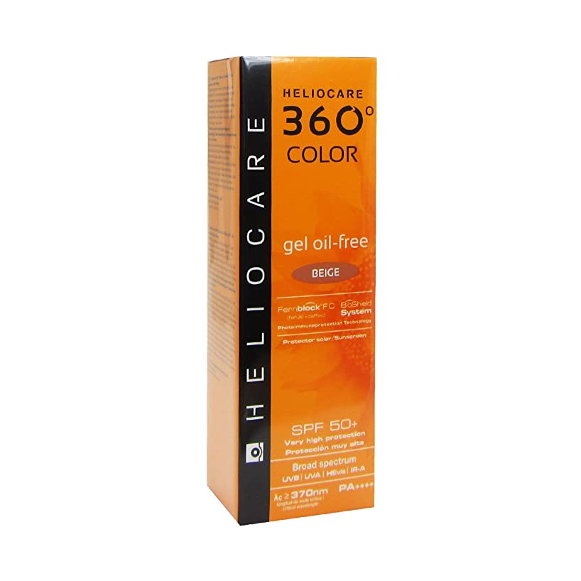 欠如休日にカメHeliocare 360 Gel-color Oil-free Spf50 Beige 50ml [並行輸入品]