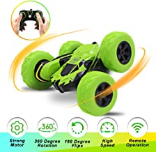 Seckton Car Toys for 6-10 Year Old Boys Remote Control Stunt Car RC Car for Kids 2.4 GHz RC Trucks Off Road 360° Spin & Flip RC Crawler Outdoor Beach Toy Green Christmas Birthday Gifts